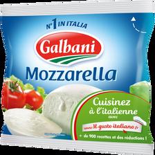 Mozzarella au lait pasteurisé, 18% de MG, GALBANI, 125g