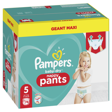 St Michel Pampers Baby Dry Pants Couches-culottes Geant Maxi T5 X74