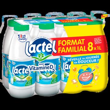 Lactel Lait Écrémé Uht - Lactel - 8x1l