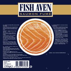 Saumon fumé atlantique FISH AVEN, sachet 150g