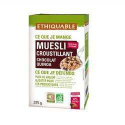 Muesli chocolat noir quinoa BIO ETHIQUABLE 375g