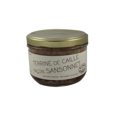 Terrine de caille façon Sansonnet LA CUISINE D'ANNETTE, 200g