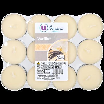 Chauffe-plats U MAISON, ivoire/vanille, 24 unités