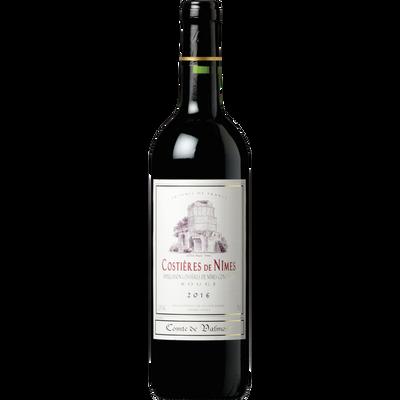 Vin Costières de Nîmes rouge AOC COMTE DE VALMONT, bouteille de 75cl