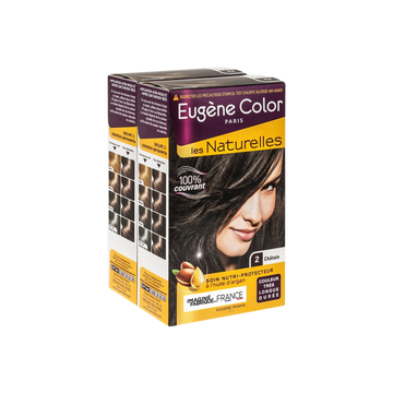 Eugène Color Coloration Permanente Châtain N°2 Eugène Color, X2