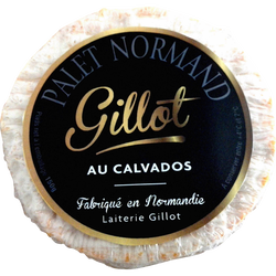 Palet normand noir au Calvados au lait pasteurisé 22% de matière grasse GILLOT, 150g