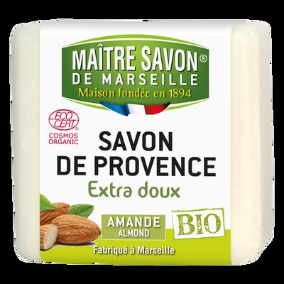 Savon bio amande MAITRE SAVON DE MARSEILLE, 100g