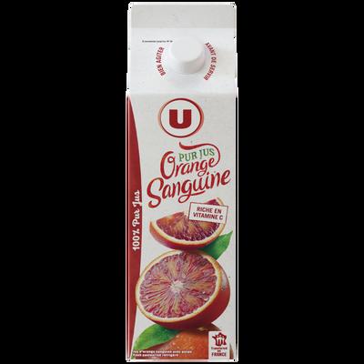 Pur jus d'oranges sanguines pressées U, 1l
