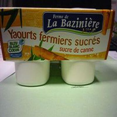 YAOURT SUCRE DE CANNE X4