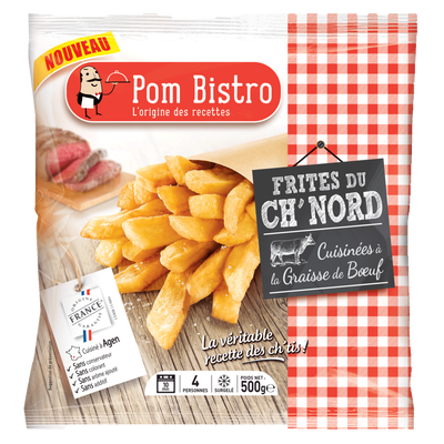 Frites de ch'nord POM BISTRO, sachet de 500g
