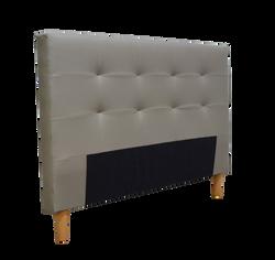 Tête de lit pour 2 personnes 162x9x94cm gris