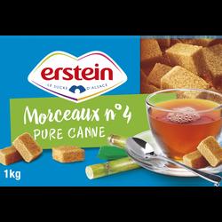 Morceaux de sucre de canne pure ERSTEIN, boîte de 1kg