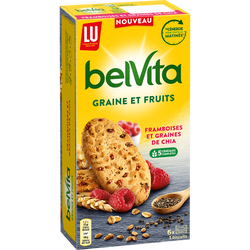 Biscuits framboise/graines BELVITA, 270g