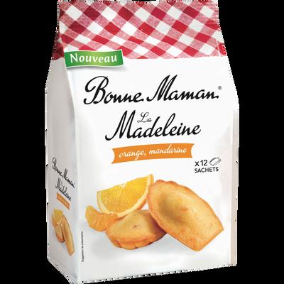Madeleines tradition à l'orange et à la mandarine BONNE MAMAN, 300g