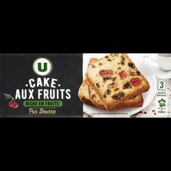 Cake aux fruits pur beurre fruit conflit fruit sec U, 350g