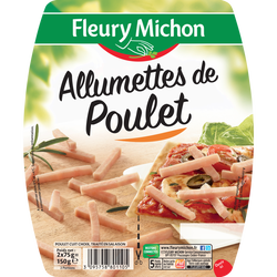 Allumettes de poulet FLEURY MICHON 2x75g 150g