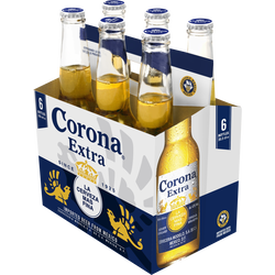 Bière blonde extra CORONA, 6 bouteilles de 35,5cl