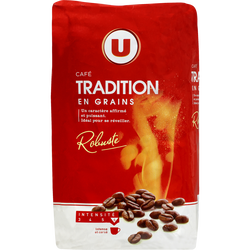 Café tradition grains U, paquet de 1kg