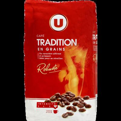 Café tradition grains U, paquet de 1kg