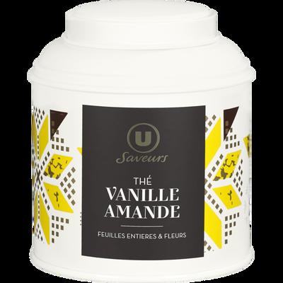 Thé amande vanille U SAVEURS, boîte métal de 100g