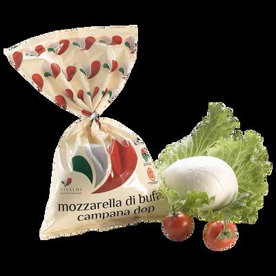 Mozzarella di bufala campana DOP lait pasteurisé de buflonne 23% de MG, Vivaldi 250g