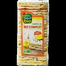 Galettes fine au riz complet bio TERRE ET CEREALES, paquet de 130g