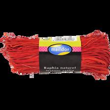 Raphia naturel MAILDOR, rouge