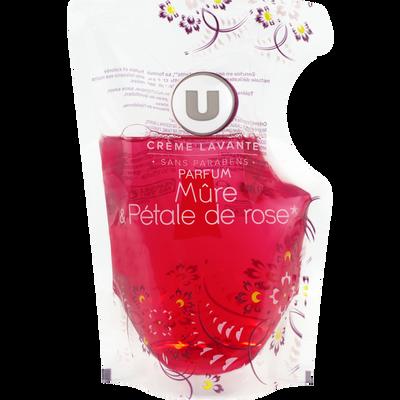 Crème lavante hygiène et rose BY U, recharge de 250ml