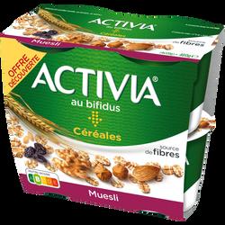 Spécialité laitière sucrée müesli ACTIVIA 4x120g offre découverte