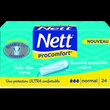 Tampons sans applicateur pro confort normal NETT, boîte x24