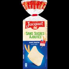 Pain de mie sans croûte sans sucre ajouté nature JACQUET, 22 tranchessoit 475g