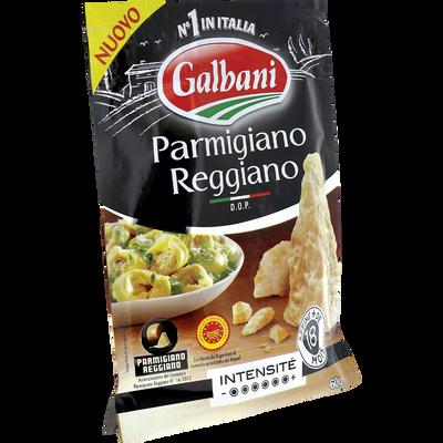 Fromage à pâte dure râpé Parmigiano Reggiano DOP au lait cru 28% de MG, GALBANI, 60g