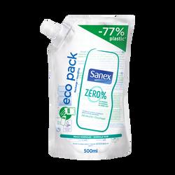 Gel douche et bain peaux normales Zéro % SANEX, recharge de 500ml