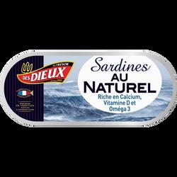 Sardines au naturel LE TRESOR DES DIEUX, lot de 3, soit 138g