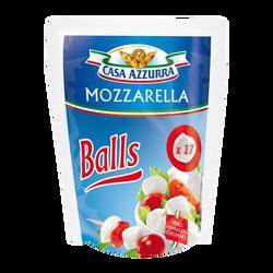 Mozzarella au lait pasteurisé billes 18% de matière grasse CASA AZZURRA, 150g