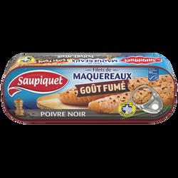 Filets de maquereaux fumé au poivre noir SAUPIQUET, boîte de 120g