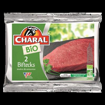 Viande bovine - Steak **, à griller, BIO, CHARAL, France, 2 pièces
