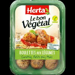 Boulettes légumes le bon végétal HERTA, 200g
