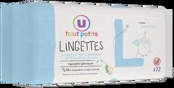 Lingettes classiques pour bébé Tout Petits U, x72