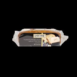 Toast moelleux spécial foie gras au muesli LABEYRIE, 12 tranches, 250g