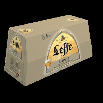 Bière blonde ABBAYE DE LEFFE, 6,6°, pack 18x25cl