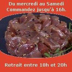 Tartare, Thon shichimi aux 7 épices huile de sésame salée sésame SUSHI MONT BLANC