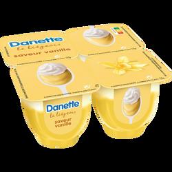 Liégeois à la vanille DANETTE, 4x100g
