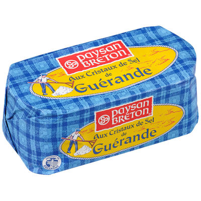 Beurre moulé au sel de Guérande PAYSAN BRETON, 80% de MG, 500g