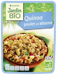Quinoa poulet et sésame JARDIN BIO 250g