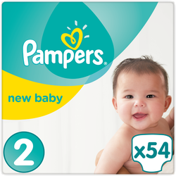 Couches new baby premium Protection PAMPERS, 4-8kg geant T2 x54