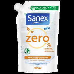 Gel douche biodégradable peaux sèches SANEX recharge 500ml