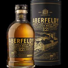 Scotch whisky single malt ABERFELDY, 12 ans d'âge, 40°,  bouteille de70cl + coffret