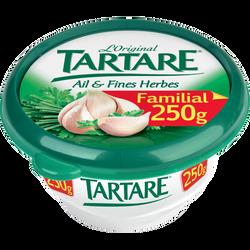 Fromage au lait pasteurisé TARTARE Ail et Fines Herbes, 34,5%MG, 250g