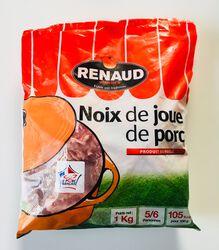 Noix de joue de porc, RENAUD VIANDES, sachet 1kg